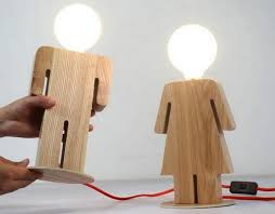 Now Make Similar Pieces Of Wood And Then Put Them In Round You Have To Place A Lamp Their Middle This Awesome Effect