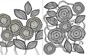 Download These Free Printable Adult Coloring Pages In A Cool Artsy Flower Theme