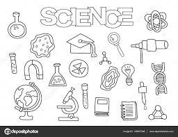 Dibujos Fisica Y Quimica Para Colorear Elementos De La Ciencia De