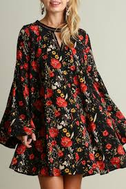 umgee usa black floral dress from texas by red poppy u2014 shoptiques