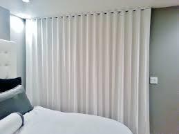 Kohls Double Curtain Rods by Ripplefold Drapery Panels On Ceiling Mounted Architrac Rod Retro