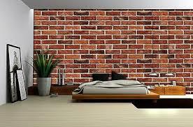 fototapete 3d backstein wand mauer ziegeloptik wohnzimmer