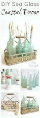 Pottery Barn Sea Glass Bathroom Accessories by Creating Diy Coastal Beach Decor With Sea Glass Spray Paint And