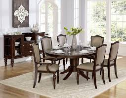 Marston Traditional Dark Cherry Wood Pedestal Dining Table