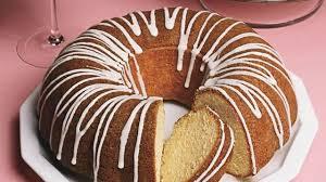 Vanilla Bean Bundt Cake with Vanilla Glaze and Strawberries Recipe