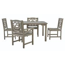 5 Piece Bar Height Patio Dining Set by Martha Stewart Living Blue Hill 5 Piece All Weather Eucalyptus