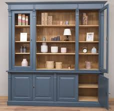 casa padrino landhausstil wohnzimmerschrank blau naturfarben 223 x 51 x h 228 cm massivholz schrank bücherschrank regalschrank landhausstil