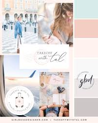100 Tal Design Blush And Pastel Branding For Travel Blogger Takeoff With