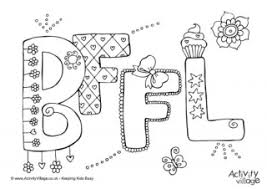Best Friends Forever Coloring Sheets