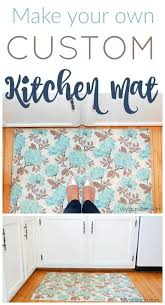 DIY Custom Kitchen Mat