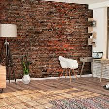 details zu vlies fototapete stein ziegelsteine rot braun ziegel 3d tapete wohnzimmer
