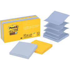 100 New York Pad 3M R33010SSNY Postit Super Sticky Popup Notes Color Collection 10 S Pack 90 Sheets