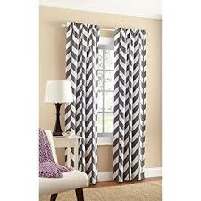 amazon com mainstays chevron polyester cotton curtain panels set