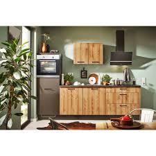 modulform küchenzeile 270 cm linksausführung nb honigeiche braun grau