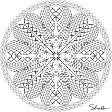 Printable Detailed Mandala Coloring Pages