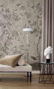 chinoiserie chic powder beige tapeten wohnzimmer