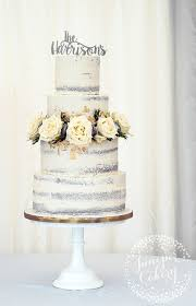 Rustic Semi Naked Wedding Cake By Juniper Cakery