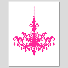 Pink Chandelier Clipart