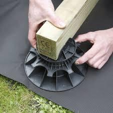 plot reglable pour terrasse bois plot pour terrasse nivo h80 140mm plot pour lambourdes deck linea
