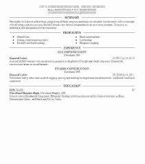 General Labour Resume Sample Laborer Objective Labor