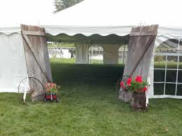 Anyone Have Old Barn Doors Laying Around Lol A Rustic Spin On Tent Wedding