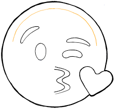 Finished Drawing Of Kissey Face Emoji