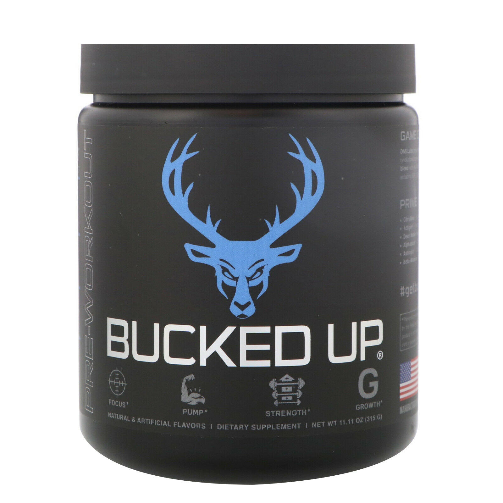 Bucked Up Pre-Workout - Blue Raz (30 Servings)