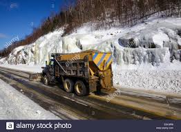 Snow Plow Truck On Route 112 In Kinsman Notch Of Woodstock, New ...