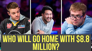 Only 3 Players Left In The 2018 WSOP Main Event YouTube
