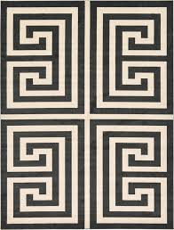 Geometric Modern Greek Design Area Rug Large Contemporary