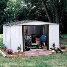 Arrow Woodridge Steel Storage Sheds by Arrow Sr68109 10 X 9 Gable Steel Storage Shed White Sears