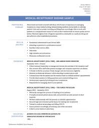 Medical Secretary Resume Examplesple Freeples Unit Examples Writing And