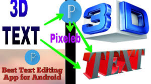 How To Make 3D Effect In Pixeleb App In The Editing 3D Logo And