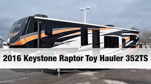 Raptor 5th Wheel Toy Hauler Floor Plans 2016 keystone raptor toy hauler 352ts fifth wheel toy hauler