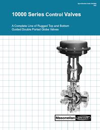 Dresser Masoneilan Pressure Regulator by 10000 Series Control Valves