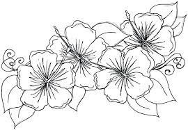Detailed Flower Coloring Pages Adult Flowers Book Page For Adults Inside