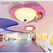 chambre de princesse bande dessinée créative ange led plafond le mâle fille chambre