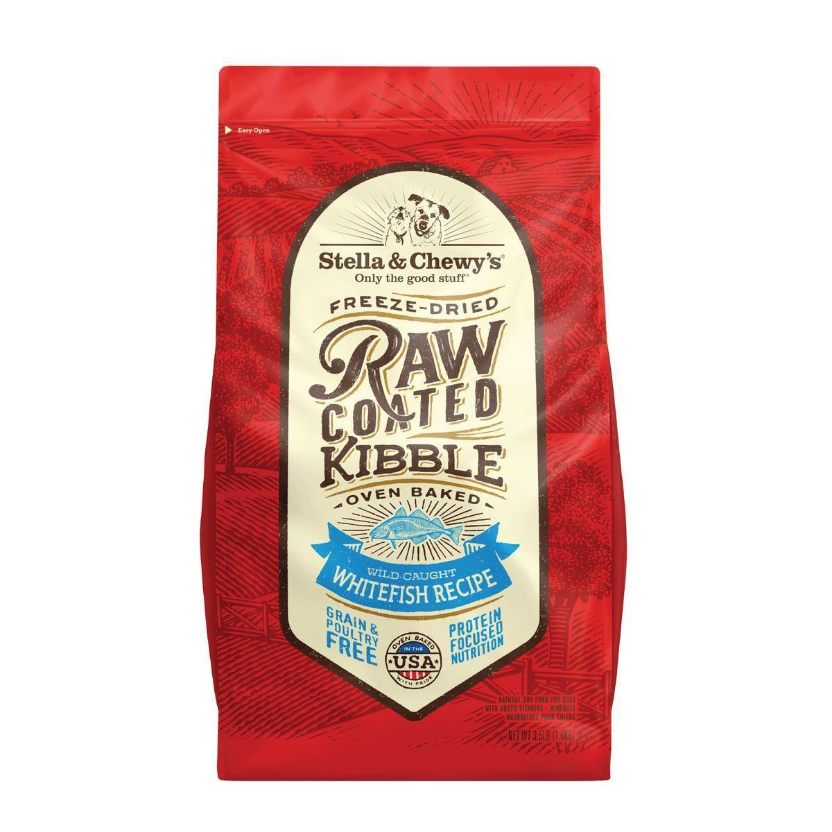 Stella & Chewy's Raw Coated Whitefish Recipe Kibble 22-lb