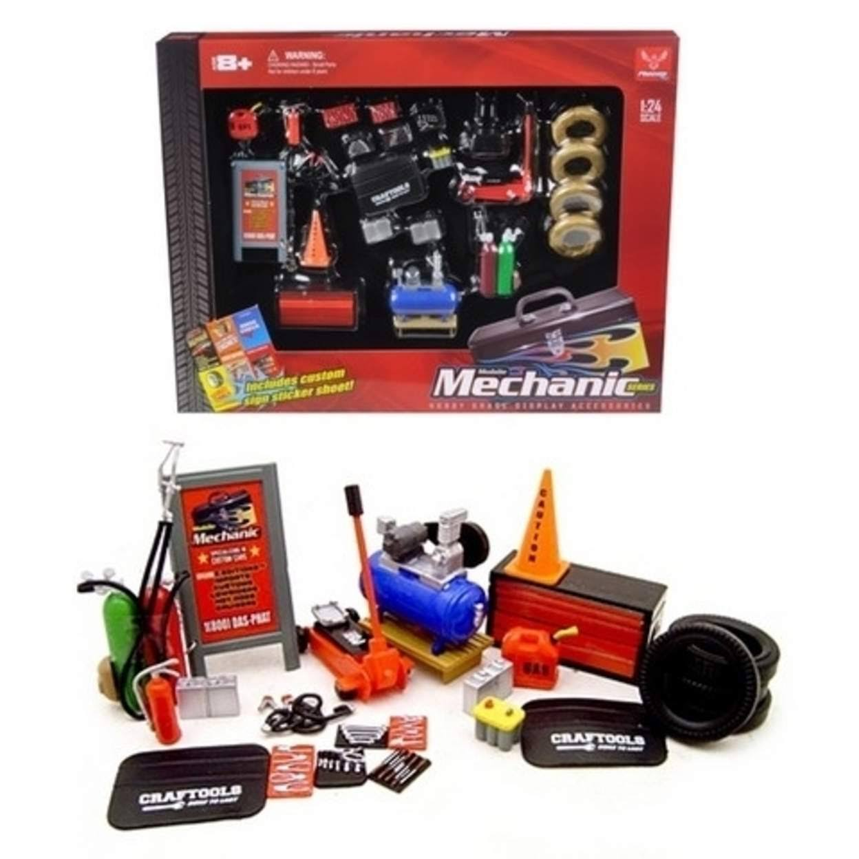 Mechanic Accessories Set Hobby Gear G Model Train and Car Accessories - 1:24 Scale