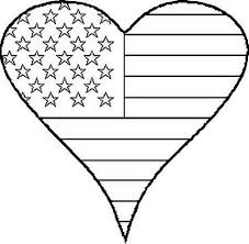 Patriotic Heart 1 Of July Independence Day Independance Coloring Book Page Print And Color Picture