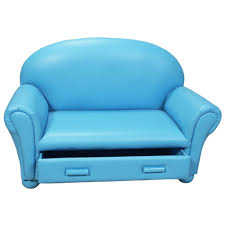 Kids Flip Open Sofa by Furniture Exclusive Sea Blue Leather Sofa For Kids Bedroom With
