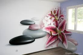deco murale chambre deco murale chambre design chambre fleur de lys et galets empilés