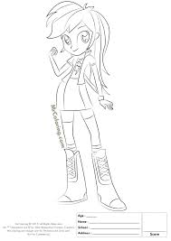 Equestria Girls Coloring Pages Lovely My Little Pony Rainbow Dash Kids Of