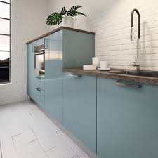choisir une cuisine cuisine couleur pastel bleu clair ou vert clair déco mlc