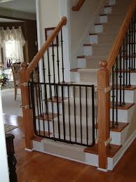 Baby Gates For Stairs Inspiration — Jen & Joes Design Model Staircase Gate Awesome Picture Concept Image Of Regalo Baby Gates 2017 Reviews Petandbabygates North States Tall Natural Wood Stairway Swing 2842 Safety Stair Bring Mae Flowers Amazoncom Summer Infant 33 Inch H Banister And With Gate To Banister No Drilling Youtube Of The Best For Top Stairs Design That You Must Lindam Pssure Fit Customer Review Video Naomi Retractable Adviser Inspiration Jen Joes Diy Classy Maison De Pax Keep Your Babies Safe Using House Exterior