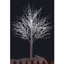5ft Christmas Tree With Led Lights by New White Snowy Twig Tree White Led Lights Xmas Indoor Outdoor