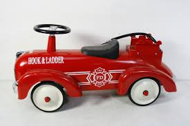 Vintage Kids Ride On Fire Truck Babystyle Hook & Ladder Classic ... Baghera Ride On Speedster Fireman Truck Little Earth Nest Vilac Wooden 2in1 Fire Activity Walker At John Lewis Sam Electric Ride On Fire Engine In Knowle Bristol Gumtree Tikes Cozy Rideon Zulily Checking The Didit Box A Boat And Truck Did It For Kids Engine Children Toy Boys Big Squirting Push Best Choice Products Alice Frederick 12 Months Power Wheels Walmart Resource Amazoncom Wonderworld Toys Games Rideon Moulin Roty