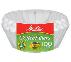 4 6 Cup Jr Basket Filter Paper White