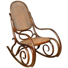 100 Navy Blue Rocking Chair Vintage Thonet Bentwood Mid Century Modern Armchair