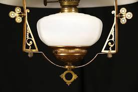 Ebay Antique Kerosene Lamps by Sold Victorian 1880 Antique Hanging Kerosene Lamp Adjustable